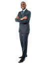 Businessman posing confidently corporate guy with arms crossed Royalty Free Stock Images