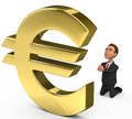 Businessman praying on the euro d Stock Photos
