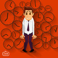 Businessman pressure in a time by deadline in working Stock Photos
