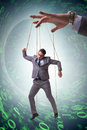 The businessman puppet being manipulated by boss Royalty Free Stock Photo