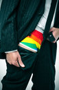 businessman with rainbow underwear Royalty Free Stock Photo