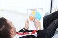 Businessman is reading documentation Royalty Free Stock Photo
