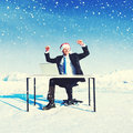 Businessman Ready for Christmas Cheerful Concept Royalty Free Stock Photo