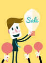 Businessman sell his idea business and ideas concept vector eps Stock Photography