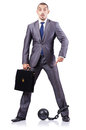 Businessman shackles white Royalty Free Stock Image