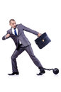 Businessman shackles white Stock Images