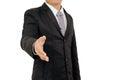 Businessman shake hand isolated on white background Royalty Free Stock Photo