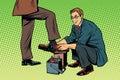 Businessman Shoe Shiner Royalty Free Stock Photo
