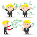 Businessman show finance money Royalty Free Stock Photo