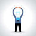 Businessman showing light bulb Royalty Free Stock Photo