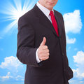 Businessman showing perfect gesture. Hand sign excellent, good, great, okay, yes. Royalty Free Stock Photo