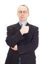 Businessman is showing thumb up Royalty Free Stock Image