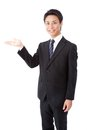 Businessman that shows direction by hand Royalty Free Stock Image