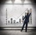 Businessman shows economic growth Royalty Free Stock Photo