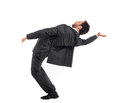 Businessman simulates Neo in the Matrix Royalty Free Stock Photo