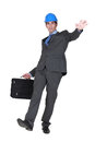 Businessman slipping and falling construction Royalty Free Stock Photos