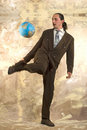 Businessman soccer Stock Images