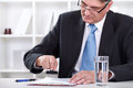 Businessman stamping document , approve contract Royalty Free Stock Photo