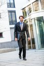 Businessman standing waiting for someone Royalty Free Stock Photo