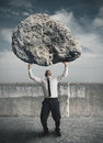 Businessman and stress Royalty Free Stock Image