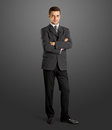 Businessman In Suit Full Length Royalty Free Stock Photos