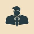 Businessman in suit icon
