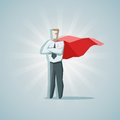 Businessman superhero square concept vector illustration of Royalty Free Stock Images