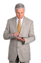 Businessman with Tablet Computer Stock Images