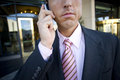 Businessman talking on cell phone Royalty Free Stock Photo