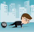 Businessman and tax business concept vector Stock Image