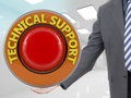 Businessman and technical support signal Royalty Free Stock Photo
