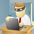 Businessman thief Stock Images