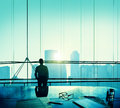 Businessman Thinking Aspirations Goals Contemplating Concept Royalty Free Stock Photo