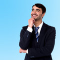 Businessman thinking something corporate guy recalling his golden days Royalty Free Stock Photography