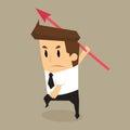 Businessman throw arrow