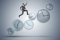 The businessman in time management concept Royalty Free Stock Photo