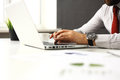 Businessman typing on keyboard Royalty Free Stock Photo