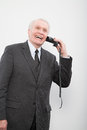 A businessman using a broken phone Royalty Free Stock Photo