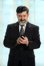 Businessman Using Cellphone Royalty Free Stock Photo