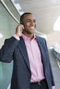 Businessman Using Hands Free Device Royalty Free Stock Photo