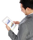 Businessman using his digital tablet Royalty Free Stock Photos