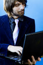 Businessman using laptop Royalty Free Stock Photography
