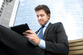 Businessman using a tablet Royalty Free Stock Photo