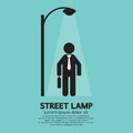Businessman Walking Under Street Lamp Royalty Free Stock Photo