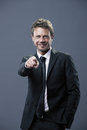 Businessman want you handsome pointing towards the camera Royalty Free Stock Photo