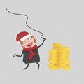 Businessman with whip controlling his money. 3D