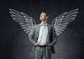 Image : Businessman with wings   by