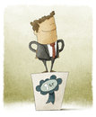 Businessman winner illustration of funny Royalty Free Stock Images