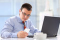 Businessman working in his office Royalty Free Stock Photo