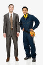 Businessman and workman Royalty Free Stock Photo